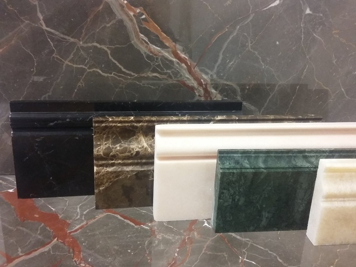 Marble shaped skirting board italy