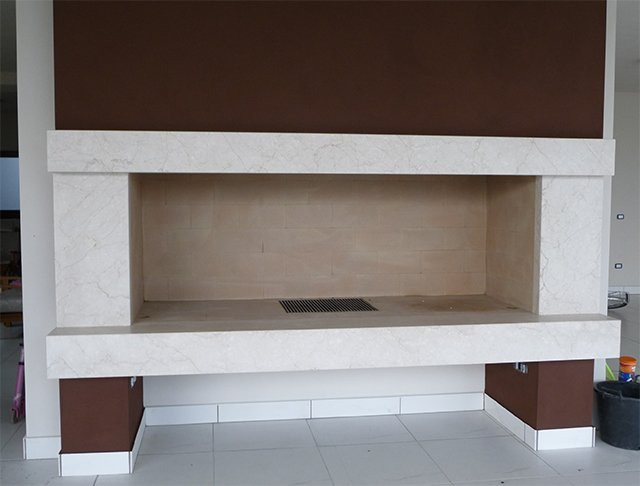 fireplace Botticino classico